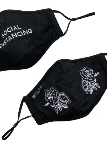 Dirt Squirrel Embroidered Face Mask Duo